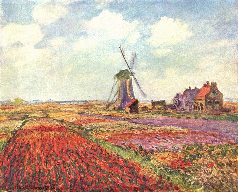 Claude Monet, Champs de tulipes en Hollande