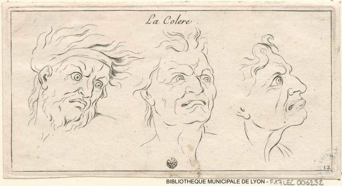 La colère_ gravure de Sébastien Leclerc_BM Lyon